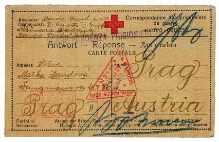 Duben 1916 Asinara, přední strana